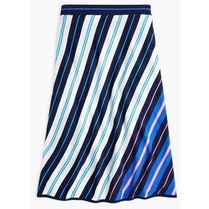 J. Crew merino wool skirt diagonal stripe 7993